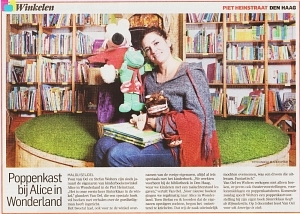 Alice in Wonderland in de krant!